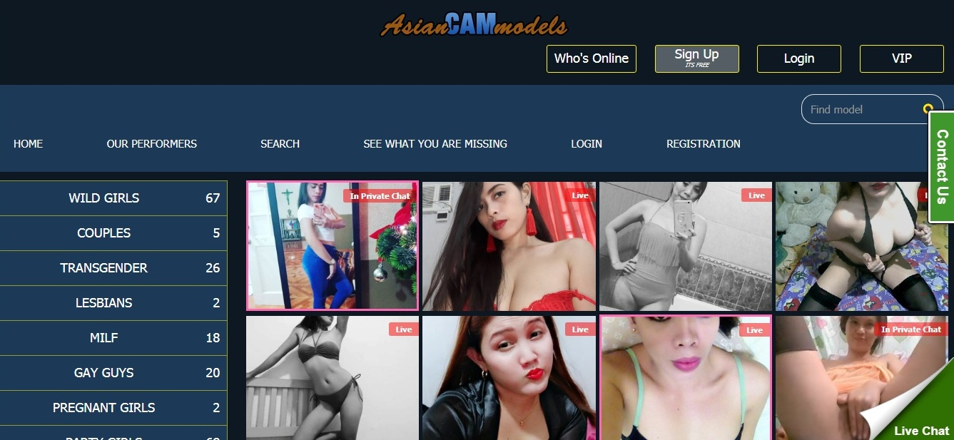 AsianCamModels Home