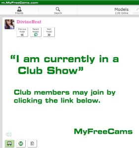 MyFreeCams user experience