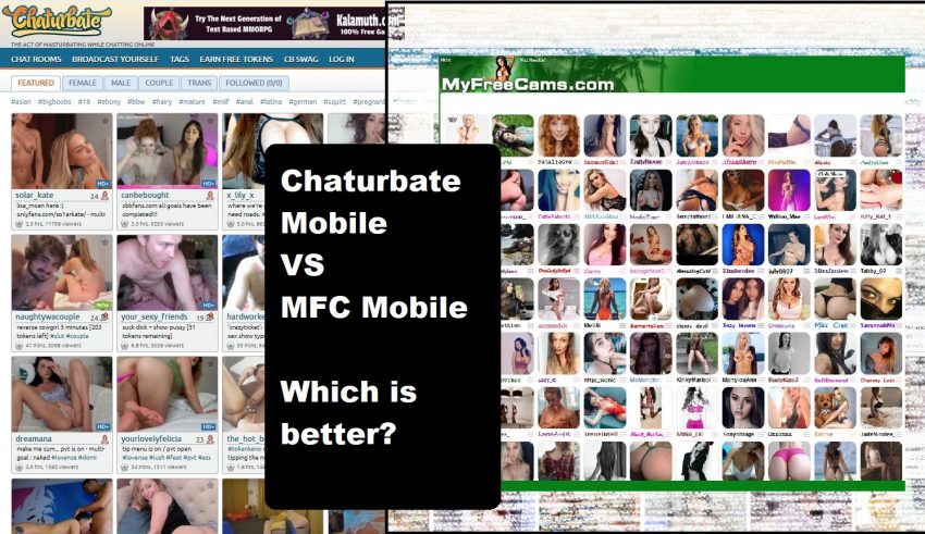 myfreecams mobile vs Chaturbate mobile